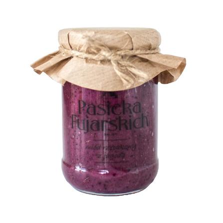 Miód rzepakowy z jagodą 350g Pasieka Fujarskich